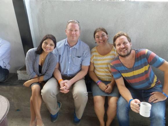 Kimberly med oss i Santo Domingo tillsammans med Lasse Svensson